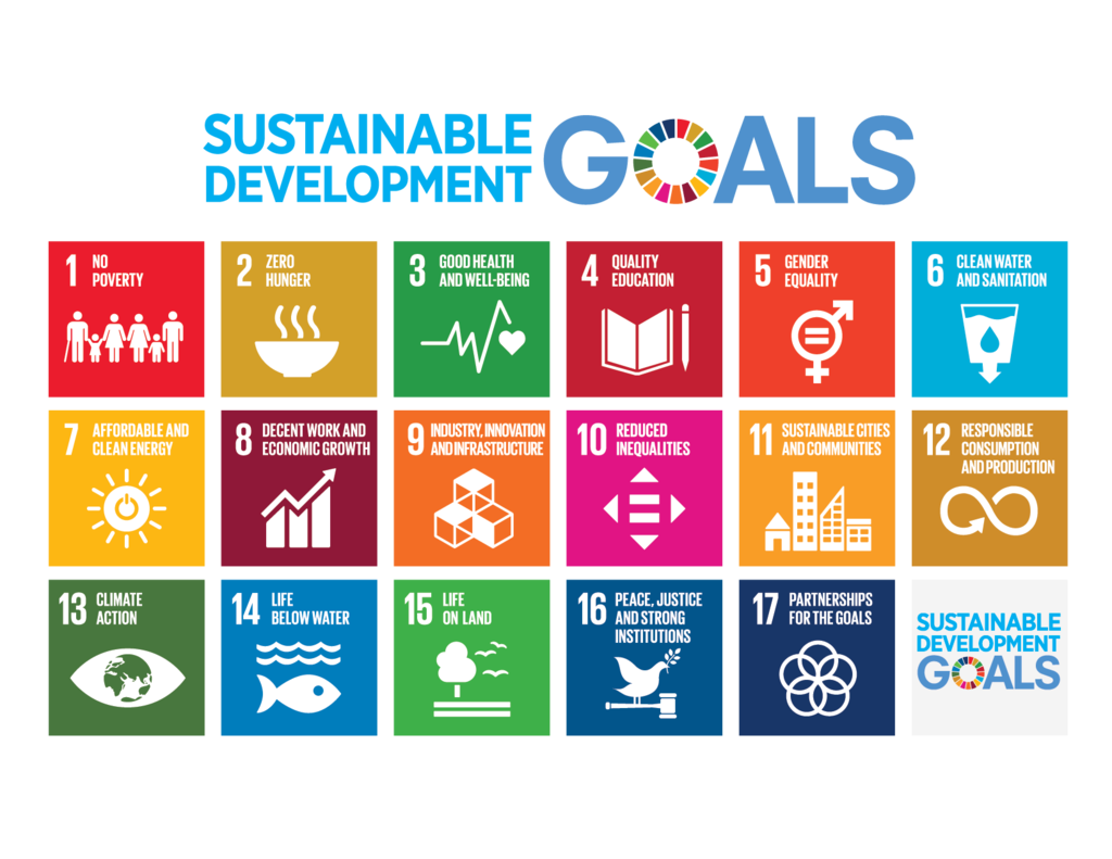 the united nations sustainable development goals graphic showing the 17 goals