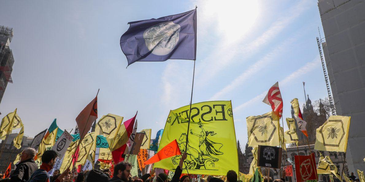 extinction rebellion at parliament square