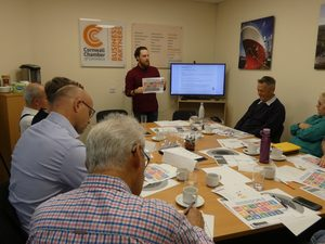 sustainability workshop held at Cornwall Chamber of Commerce