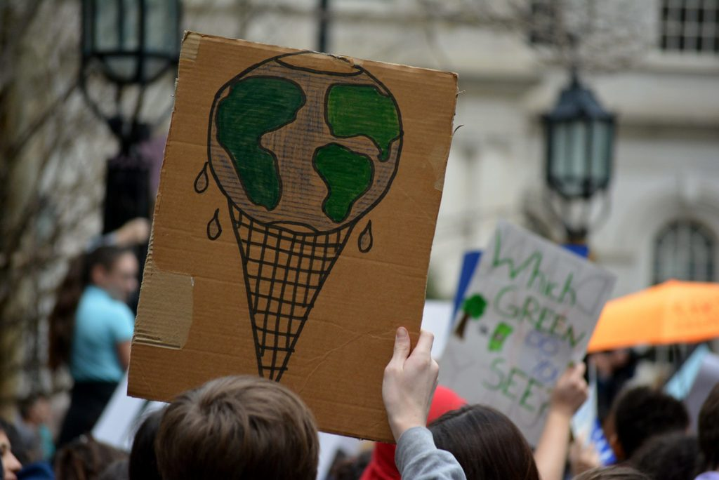 climate strike body image 3 melting earth