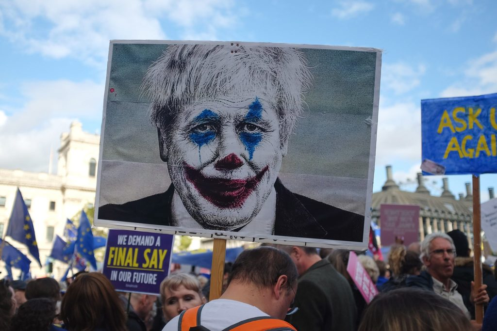 government has failed the environment body image - boris johnson as a clown