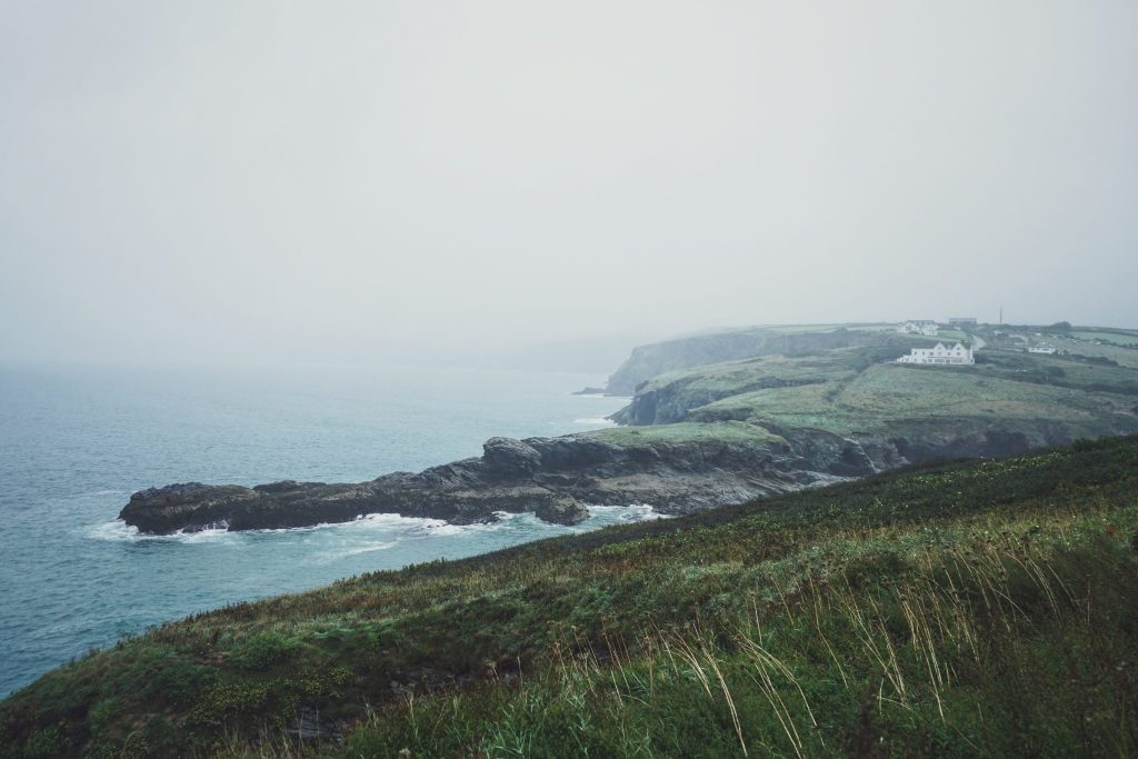 Cornwall on a misty day